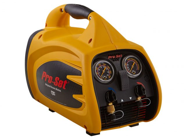 The Pro-Set TRS600 is a lightweight, efficient and reliable refrigerant recorevry machine in a compact, rugged, contemporary housing